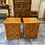 Thumbnail: Two pine veneer 1 drawer 1 cupboard bedsides