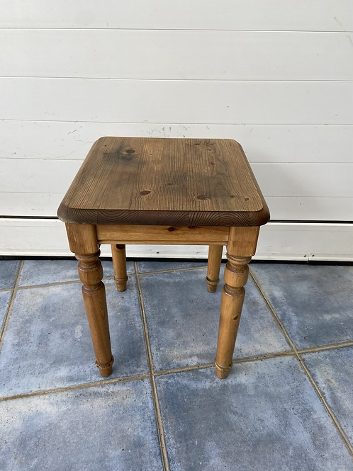 Vintage solid pine occasional table
