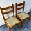 Thumbnail: 2 pine chairs with rush seat pads €20 each €35 for the pair