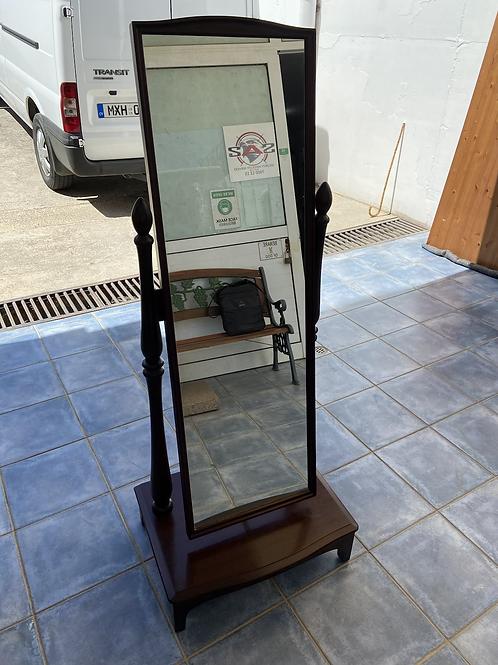 Original Stag dark wood cheval mirror