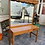 Thumbnail: Large pine dressing table with 2 drawers and mirror