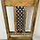Thumbnail: Vintage wooden chair with metal lattice insert