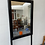 Thumbnail: Black faux leather mirror with contrasting stitching