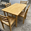 Thumbnail: Beech table and 4 chairs