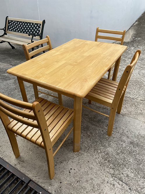 Beech table and 4 chairs