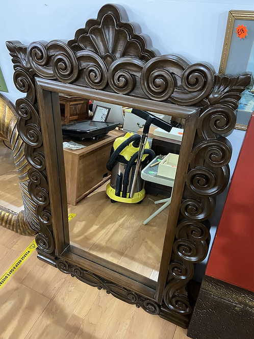 South African hand carved mirror
