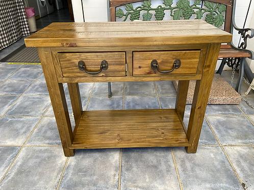 Solid oak console