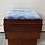 Thumbnail: Heavy dark wood veneer dressing table stool