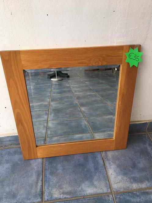 Square oak mirror