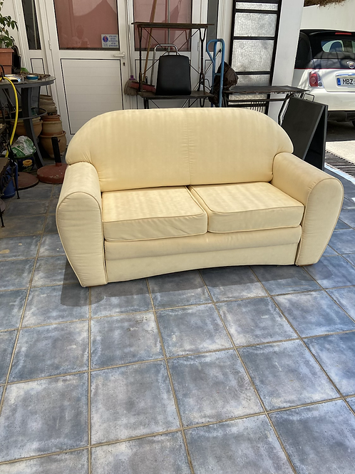 Nehl buttermilk small double sofa bed
