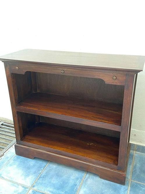 Heavy solid dark wood  book shelf