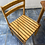 Thumbnail: Beech table 122x76 75h and 4 chairs ideal up cycle project