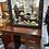 Thumbnail: Lovely dark wood dressing table and mirror