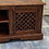 Thumbnail: Indian wood TV unit with 2 side cupboards with wooden lattice front