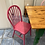 Thumbnail: Quirky Italian pine table with green legs and 4 multicoloured pine chairs