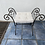 Thumbnail: Wrought iron and fabric dressing table stool/chair