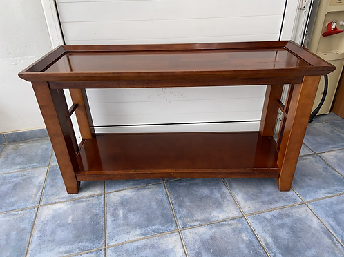 Cherry wood console table