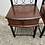 Thumbnail: Pair of dark wood and metal frame bedsides with 1 drawer