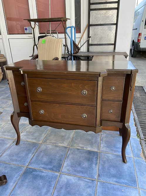 Vintage Queen Anne cabinet with 6 drawers