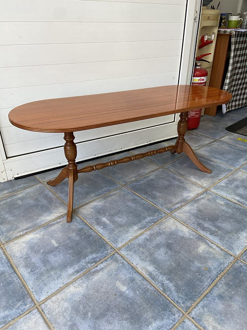 Cherry wood oblong coffee table