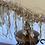 Thumbnail: Wheat coloured fringed ornate lamps