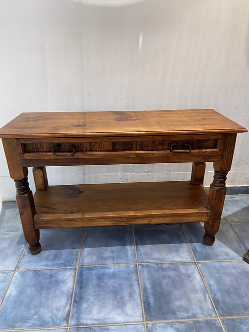 Large authentic original Mexican Pine console table