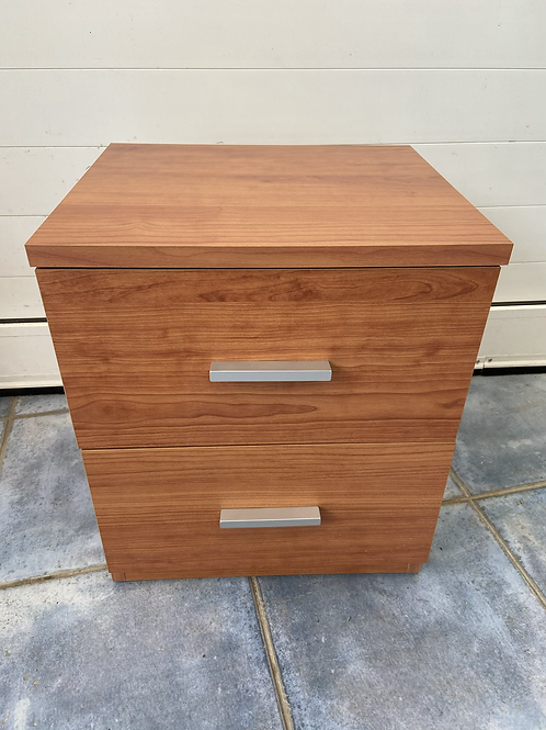 Veneer 2 drawer bedside