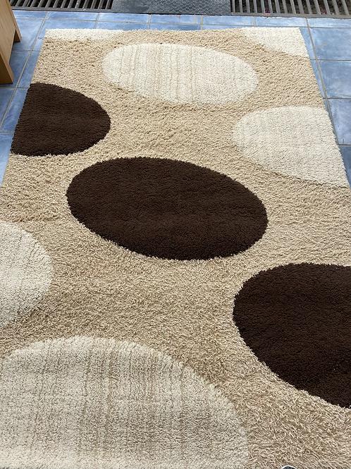 Modern cream/beige/brown rug