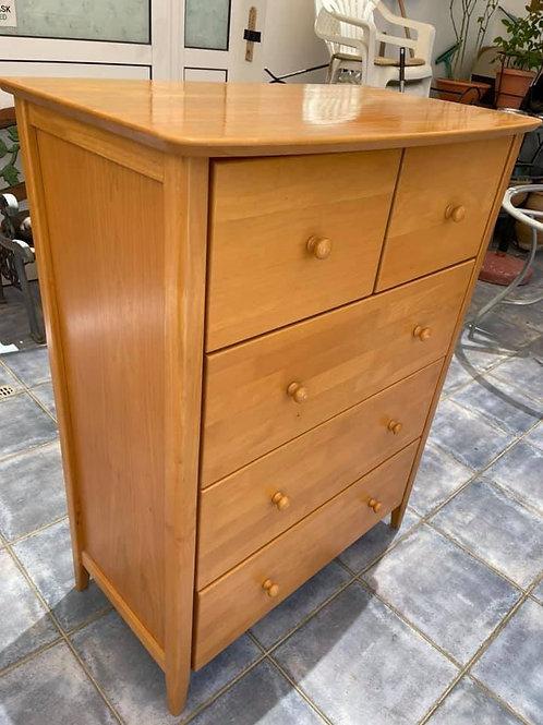 Pine 4 drawer tall boy
