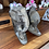Thumbnail: Beautiful South African hand carved stone elephant book ends