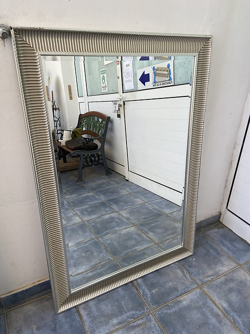 Large silver colour wooden framed mirror (4 available)
