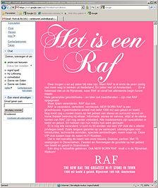 e-mailing Raf wordt hifi klubben. Senior art director Andre van Leeuwen. copywriter Frits Rijksbaron