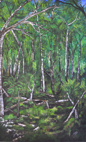 schilderij met bomen nr. 1 Valery van Leeuwen