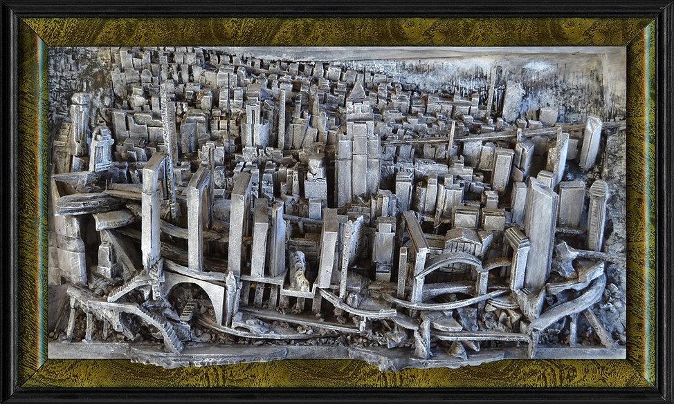 3d Painting city /schilderij . Valery van Leeuwen