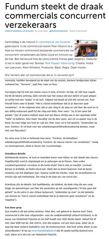 Schitterende reclame voor Fundum. Copywriter: Rom Wittebol. Creative director: Andre van leeuwen