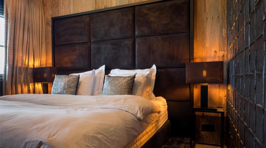 Romatische slaapkamerverlichting, gecreeerd door De Lichtplanners.