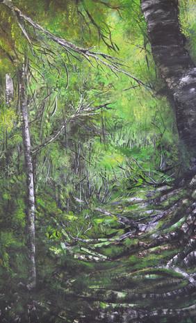 bomen schilderij nr. 2 Valery van Leeuwen