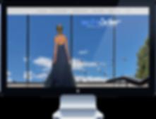 Mooie vrouw kijkt naar verschillende landschappen. webdesigner Andre van Leeuwen