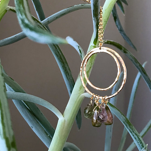 Teardrops of Tourmaline Necklace