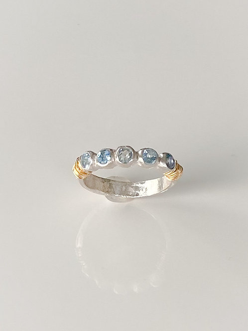Aquamarine Twinkle Ring