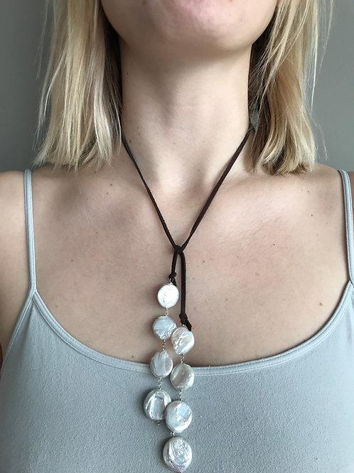 Falling Pearls Lariat