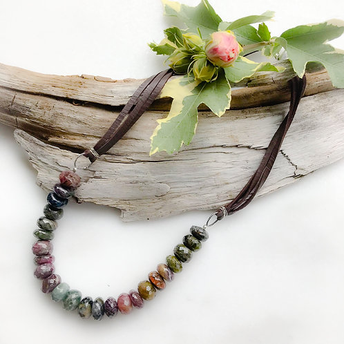 Tethered Tourmaline Necklace