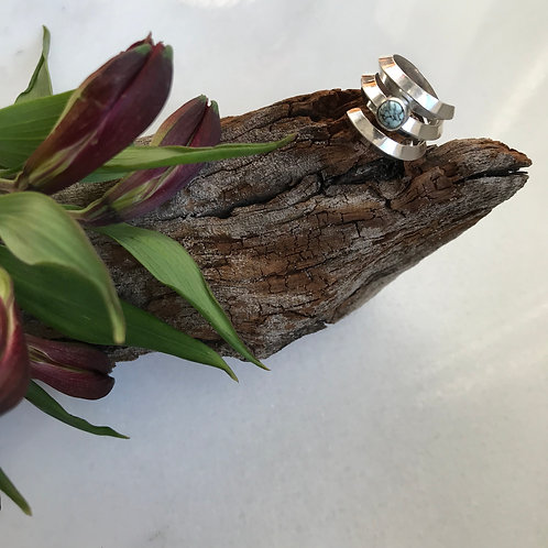 Swirled Turquoise Ring
