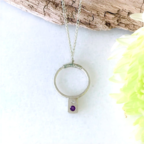 A Spot of Amethyst Necklace