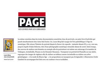JEUX DE PORTRAITS DANS LA REVUE PAGE DES LIBRAIRES