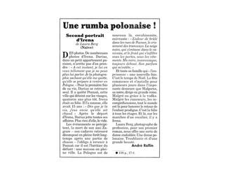 SECOND PORTRAIT D'IRENA DANS LE CANARD ENCHAINÉ