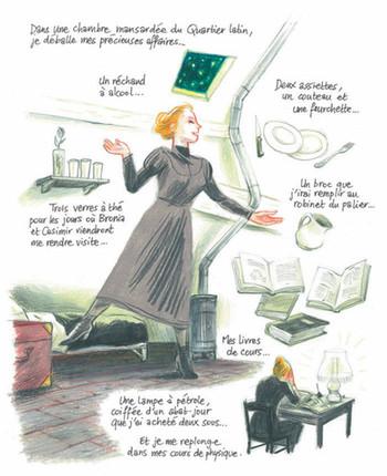 Extrait de la bande dessinée Marie Curie