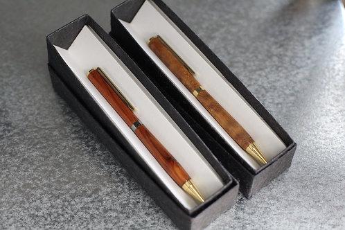 宗像・赤坂漆器工房/ボールペン(細・マツ)