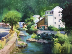 Summer Retreat by A River