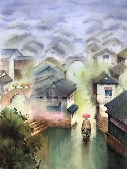 A dreamland in the rain